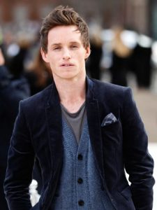 British actor Eddie Redmayne poses for p